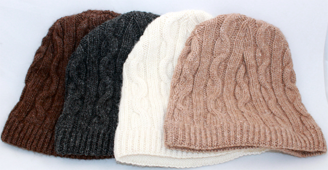 Alpaca Wool Knitting Patterns : Cable Knit Cap - KaveRock Alpaca Farm   Rehoboth, MA